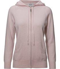 hood hoodie trui roze davida cashmere