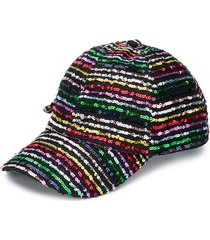 monnalisa sequin stripe cap - black