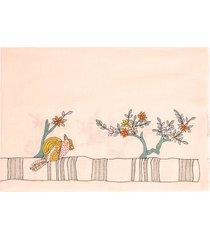 embroidered bird shawl