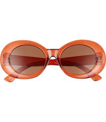 bp. 51mm oval sunglasses in clear brown at nordstrom