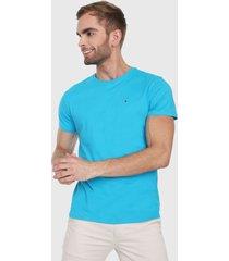 camiseta azul turquesa tommy jeans