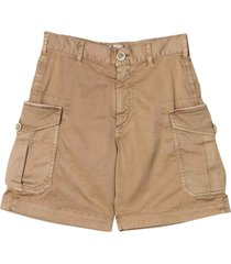 brunello cucinelli brown bermuda shorts brunello cucinelli kdis