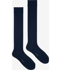 long plain socks blue 40