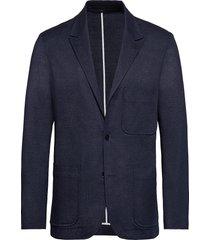 stretch denim casua blazer colbert blauw calvin klein