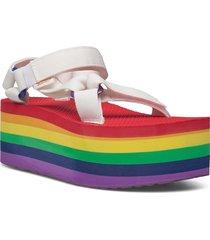 w flatform universal pride shoes summer shoes flat sandals multi/mönstrad teva
