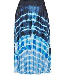 gonna plissettata in fantasia batik (blu) - bodyflirt