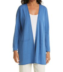 eileen fisher organic linen & cotton longline cardigan, size small in coast at nordstrom