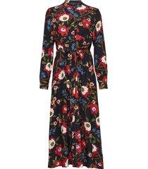 eloise drape 2 midi shrt dress jurk knielengte multi/patroon french connection