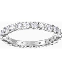 anello vittore xl, bianco, placcatura rodio