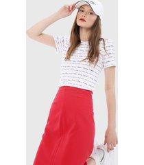 camiseta blanco-multicolor tommy hilfiger