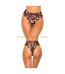 mix it!!! sexy bikini slip hoge taille luipaard