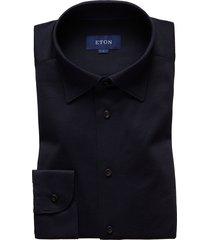 men's eton soft casual line slim fit shirt, size large - blue