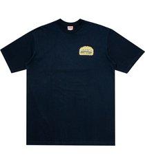 supreme chrome t-shirt - blue