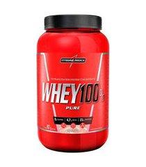 whey protein 100% pure morango integralmédica pote - 907g