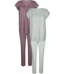 pyjama harmony rozenhout/jadegroen