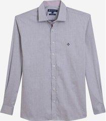 camisa dudalina manga longa fio tinto maquinetado masculina (roxo claro, 7)