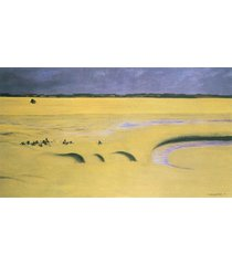 the museum outlet - beach at low tide by felix vallotton, stretched canvas galle