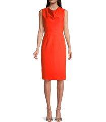 milly women's cady cowlneck dress - fire - size 10