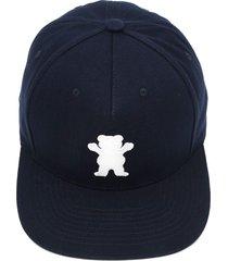 boné grizzly og bear snapback azul-marinho
