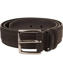 orciani man amalfi belt in dark brown suede