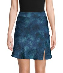 free people women's martine flirt skirt - navy combo - size 0