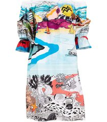paint by number multi hydra dress