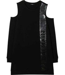 balmain black dress teen