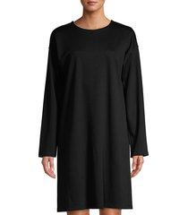 eileen fisher women's travel flex ponte shift dress - storm - size s