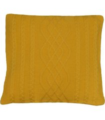 capa almofada tricot 40x40cm c/zãper sofa trico cod 1026 amarelo - amarelo - feminino - dafiti