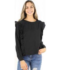blusa juanita negra jacinta tienda