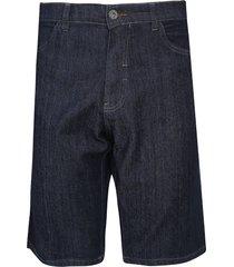 bermuda jeans fatal slim pespontos azul-marinho