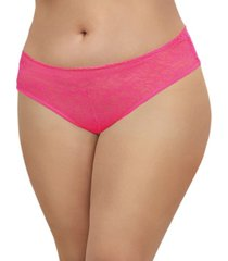 dreamgirl women's plus size low-rise crotchless bikini panty with multi ruffle back design