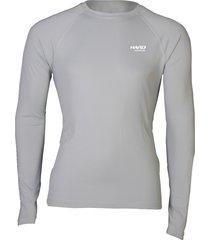 camiseta uvblock masc ml cinza - hard adventure