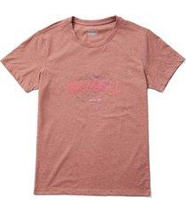 polera manga corta mujer topo rosado merrell