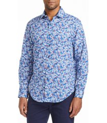 tallia men's slim fit long sleeve shirt with free matching mask