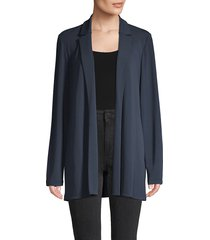 lafayette 148 new york women's long-sleeve jacket - dungaree blue - size xl