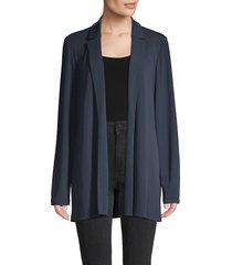 lafayette 148 new york women's long-sleeve jacket - dungaree blue - size xl