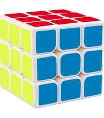 cubo mã¡gico colorido 3x3x3 bordas arredondadas branco - branco - dafiti