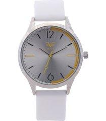 reloj blanco-plateado versace 19.69