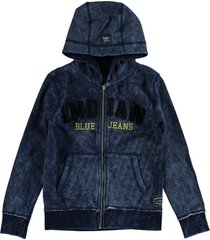 indian blue indigo sweatvest hoodie