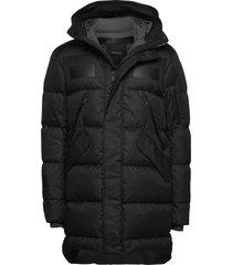 long down jacket fodrad jacka svart krakatau