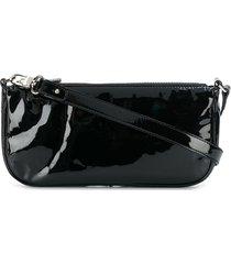 by far patent leather shoulder bag - black