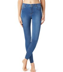 calzedonia - sexy-slim-fit lightweight jeans, xs short, blue, women