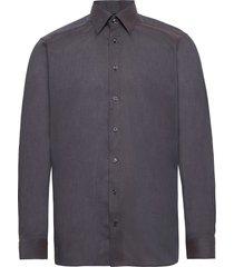 lightweight flannel shirt - contemporary fit skjorta business grå eton