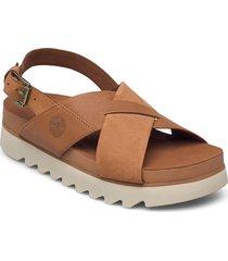 santa monica sunrise crossband shoes summer shoes flat sandals brun timberland