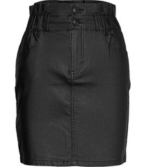 onlmillie-nya pb coated skirt cc pnt kort kjol svart only