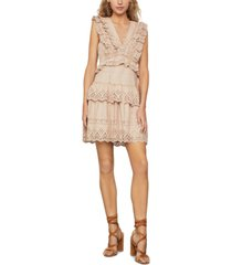 bcbgmaxazria ruffled eyelet dress