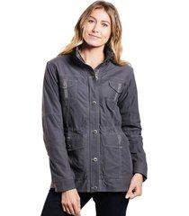 chaqueta mujer rekon lined jacket gris claro kuhl