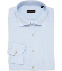 id striped cotton dress shirt