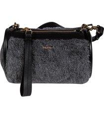 max mara top zipped fur applique shoulder bag